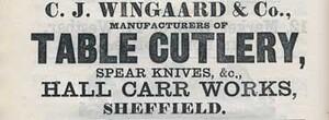 C.J. Wingaard & Co Çelik Ustura, Paduk Ağacı Saplı - Thumbnail