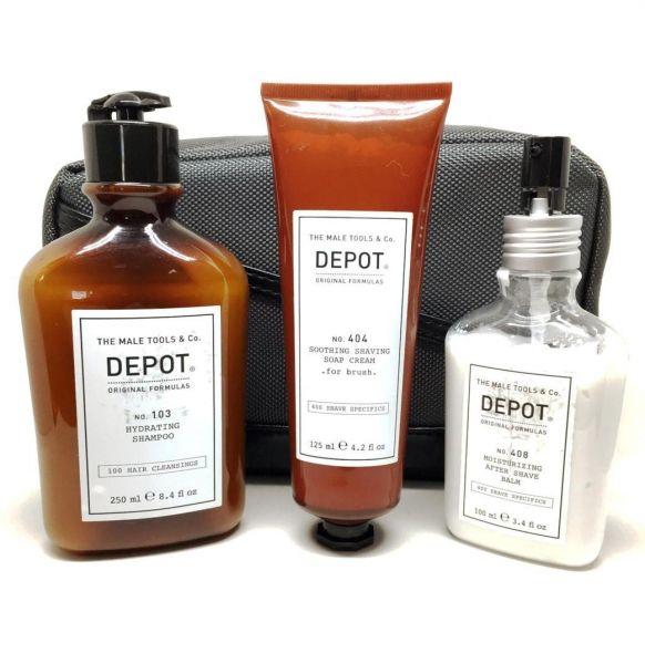 Depot Çantalı Seyahat Seti, Fırçalı Tıraş