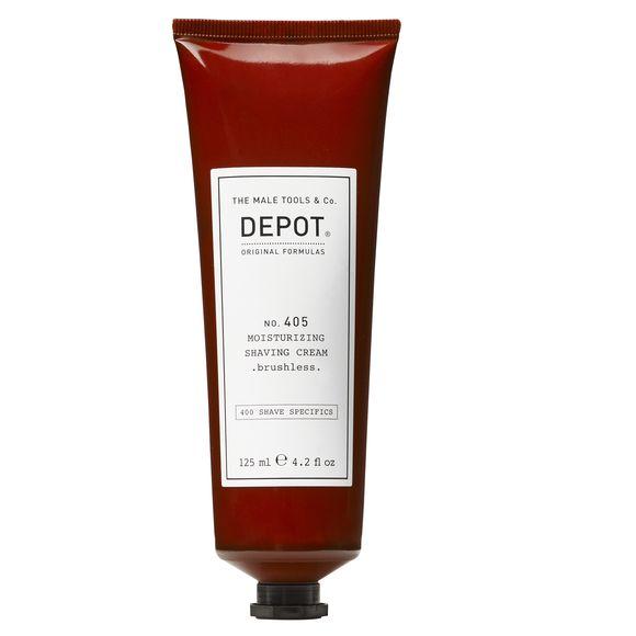 Depot No.405 Nemlendirici Tıraş Kremi, Fırçasız Kullanım için, 125 ml