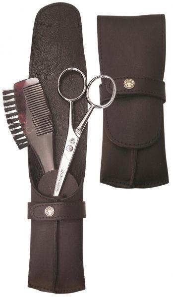 Dovo Beard Care Set, 2pcs in Leather Case