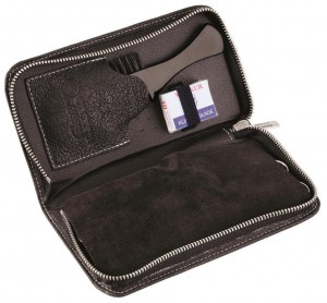 Dovo Beard & Moustache Grooming Set, 5pcs in Leather Case - Thumbnail