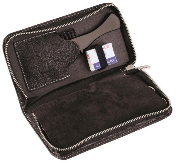 Dovo Beard & Moustache Grooming Set, 5pcs in Leather Case