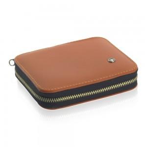 Dovo Manicure Set 6pcs in Soft Tan Leather Case - Thumbnail