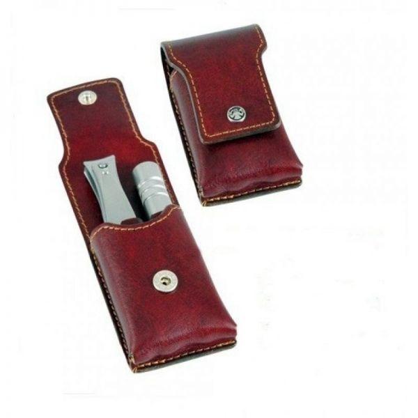 Dovo Nail Clipper & Nose Klipette Set in Leather Case