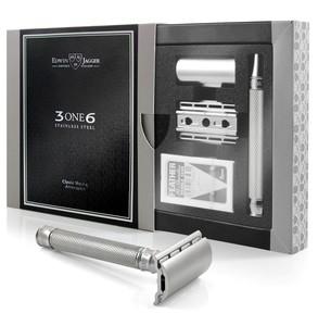 Edwin Jagger 3ONE6 Jiletli Tıraş Makinesi, Bakla Desenli - Thumbnail
