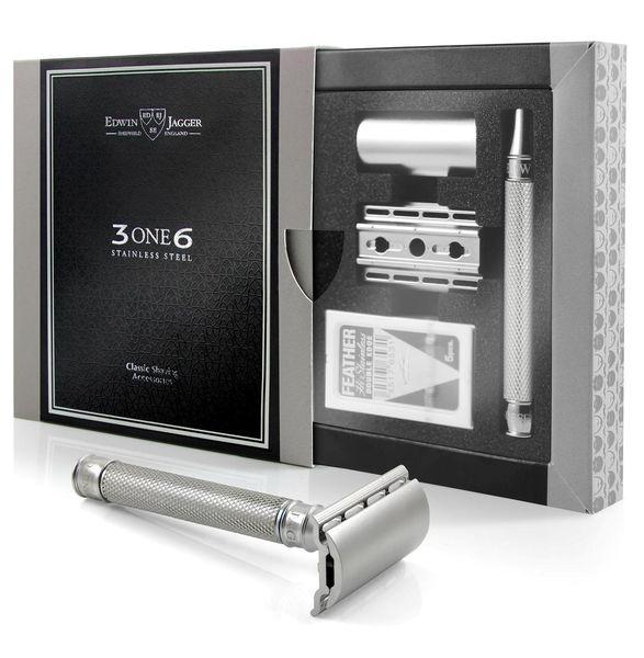Edwin Jagger 3ONE6 Jiletli Tıraş Makinesi, Bakla Desenli