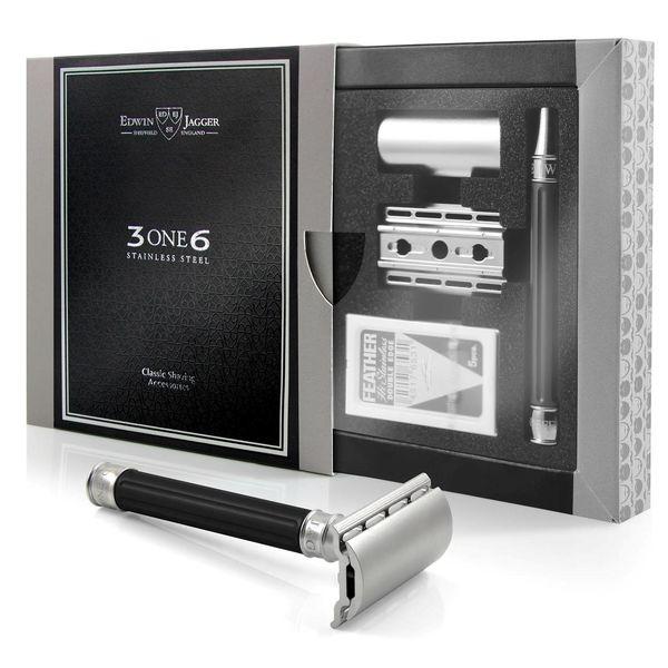 Edwin Jagger 3ONE6 Jiletli Tıraş Makinesi, Siyah