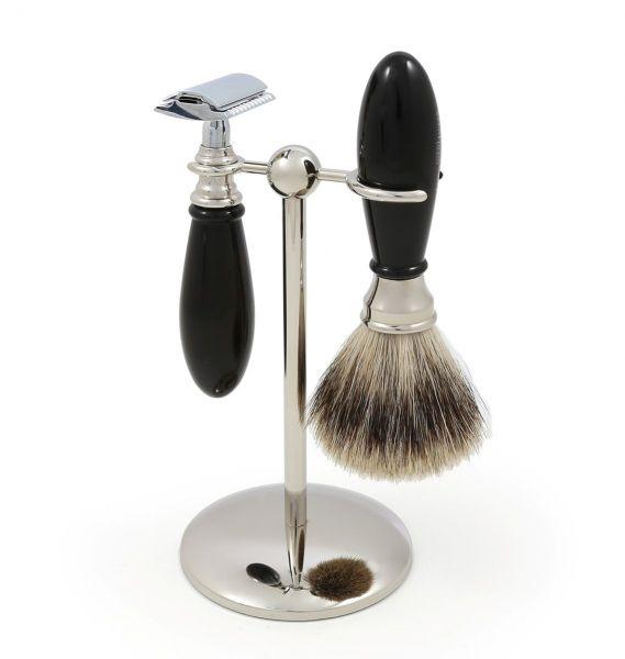 Edwin Jagger Georgian Jiletli Tıraş Seti, Siyah