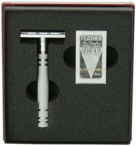 Feather All Stainless AS-D2 Double Edge Safety Razor - Thumbnail