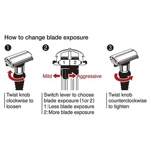 Feather DER-A Ayarlanabilir Jiletli Tıraş Makinesi