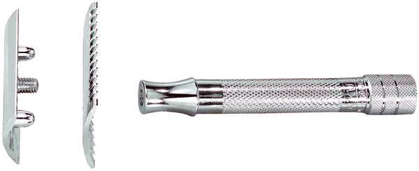Merkur 15C Jiletli Tıraş Makinesi, taraklı, krom