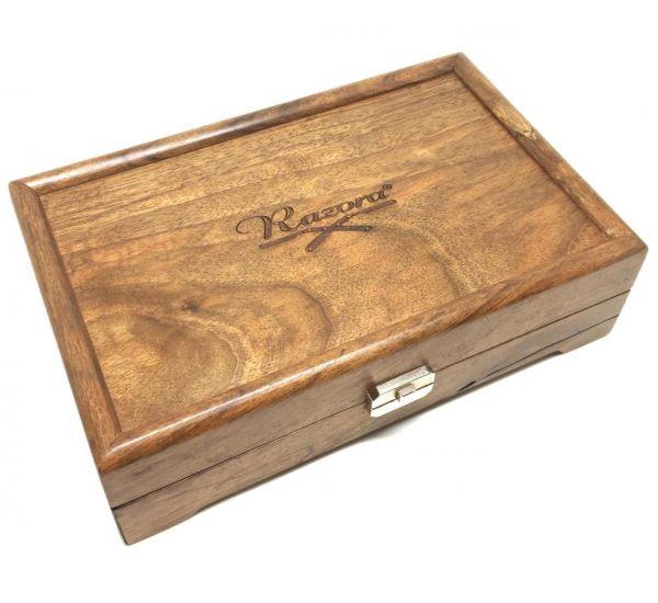 Razora Straight Razor Box for Seven Razors, Walnut