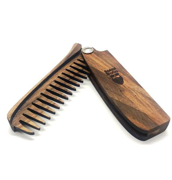 Sakal Baba Folding Wooden Beard Comb