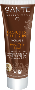 Sante - Sante Homme II Yüz Nemlendirici, 2si 1 Arada, Organik Kafein ve Açai Özlü, 50 ml