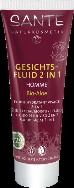 Sante Homme Yüz Nemlendirici, 2si 1 Arada, Organik Aloe Özlü, 50 ml