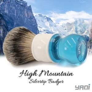 Yaqi Aqua High Mountain Silvertip Badger Tıraş Fırçası - Thumbnail