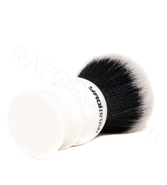 Yaqi Büyük Beyaz Tuxedo Sentetik Tıraş Fırçası