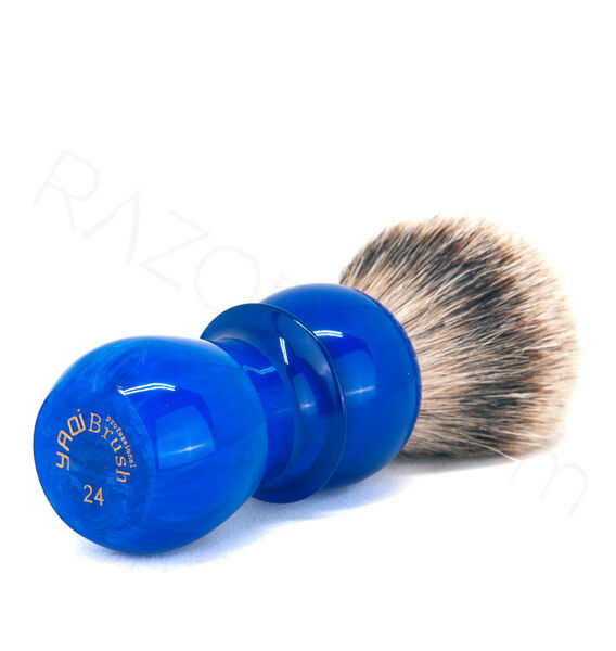 Yaqi Derin Mavi Silvertip Badger Tıraş Fırçası