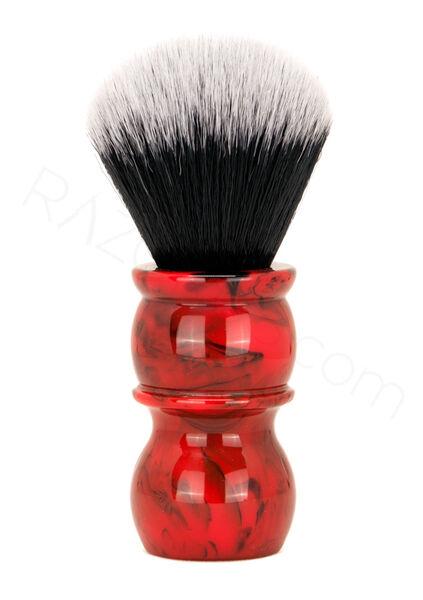 Yaqi Kırmızı Mermer-24 Tuxedo Sentetik Tıraş Fırçası